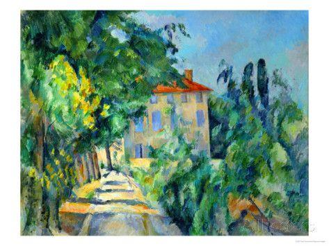 Maison Au Toit Rouge- House with a Red Roof, 1887-90 Impression giclée par Paul Cézanne sur AllPosters.fr