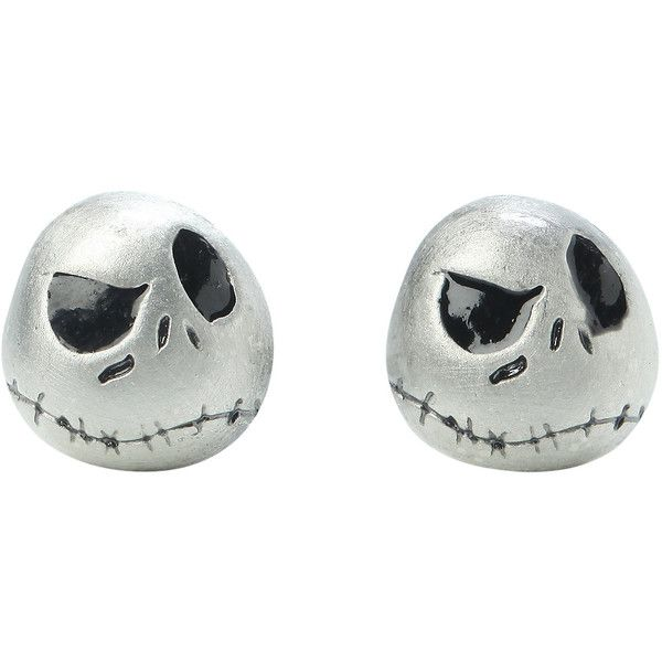 The Nightmare Before Christmas Jack Stud Earrings Hot Topic ($15) ❤ liked on Polyvore featuring jewelry, earrings, christmas earrings, stud earrings, stud earring set and christmas jewelry