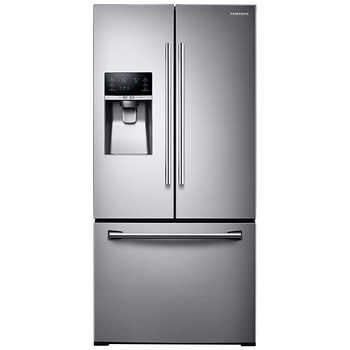 """Samsung 26CuFt 33"""" 3-Door French Door Refrigerator with CoolSelect Pantry in Stainless Steel.  $1649.99"""