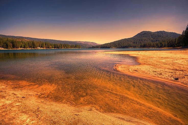 Bass Lake near Oakhurst, California