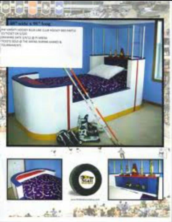 Hockey boards bed