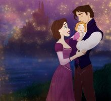 Flynn and Rapunzel with their baby girl, Clara <3 <3 <3