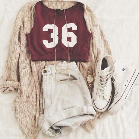 Image via We Heart It #allstars #clothes #converse #cool #fashion #girly #hipster #jean #outfit #outfits #red #shorts #style #summer #top #white #summerstyle