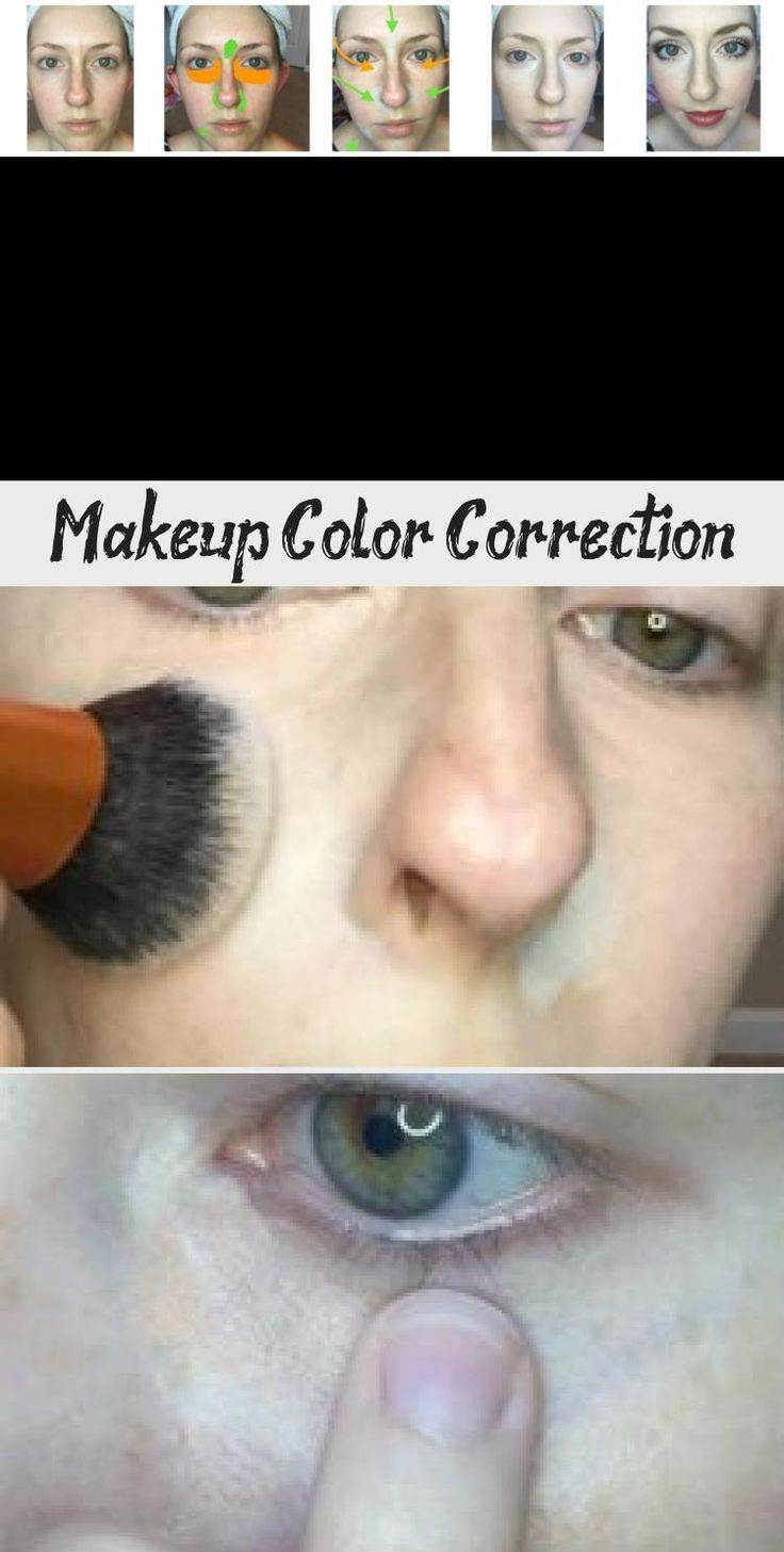 Makeup Color Correction - Make-Up in 2020 | Color correction makeup. Colorful makeup. Makeup tips eyeshadow