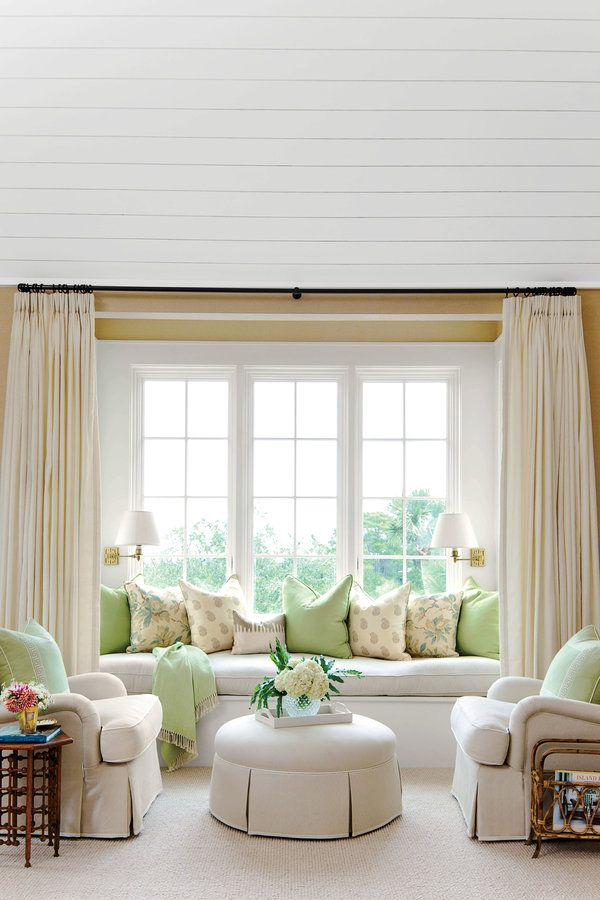 Window Treatment Ideas For Bay Windows With Window Seat