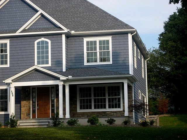 Blue grey exterior for the home pinterest - Exterior paint grey image ...