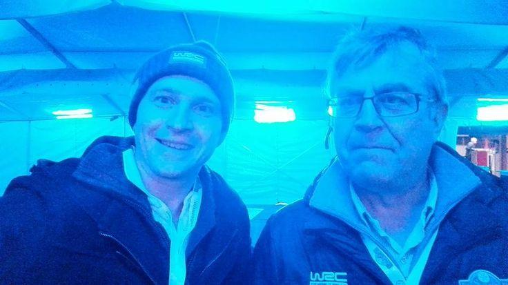 Kvelden før Rally Sweeden 2016 på banen sammen med sjefen for grue næringshage og Rally entusiast Asjørn Holmen