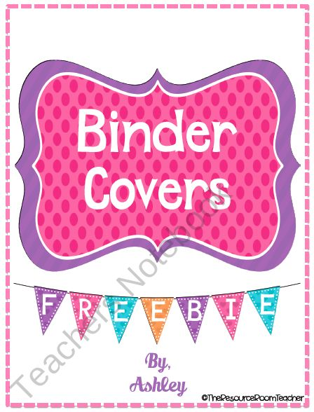 Colorful Binder Covers product from The-Resource-Room-Teacher on TeachersNotebook.com
