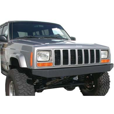 Olympic 4x4 Products Part 530-154 - Front 65 Inch Rock Bumper in Textured Black - Fits 1984 to 2001 XJ Cherokee - 4 Wheel Parts