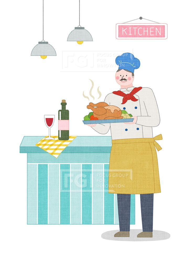 SPAI146, 프리진, 일러스트, 에프지아이, 직업, 직업군, 사람, 캐릭터, 일러스트, 비즈니스, 웃음, 미소, 행복, 손짓, 심플, 재밋는, 꿈, 장래희망, 장래, 희망, 교육, 1인, 남자, 서있는, 유니폼, 앞치마, 요리, 쉐프, 요리사, 음식, 치킨, 통닭, 닭, 와인, 소상공인, 창업, 직원, 직장, 식탁, 책상, 음료, 술, 와인병, 조명, 모자, 서빙, 서비스업, 서비스직, 매장, 음식점, illust, illustration #유토이미지 #프리진 #utoimage #freegine 20027660