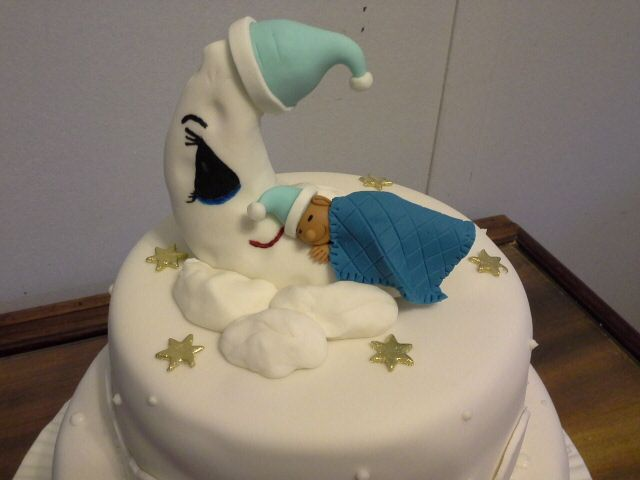 Christening cake for baby boy