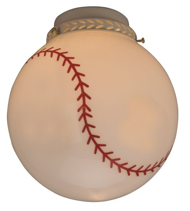View The Craftmade 405 Baseball Glass Shade For Ceiling Fans At Build