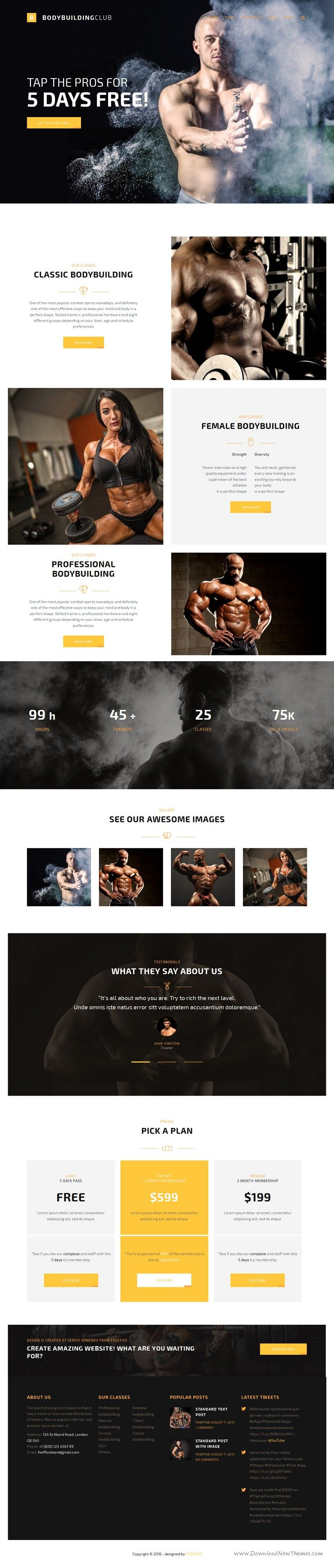 FightClub is a powerful and flexible HTML #template for sports #clubs, #bodybuilding, fitness, gyms yoga centers, website. Download Now!