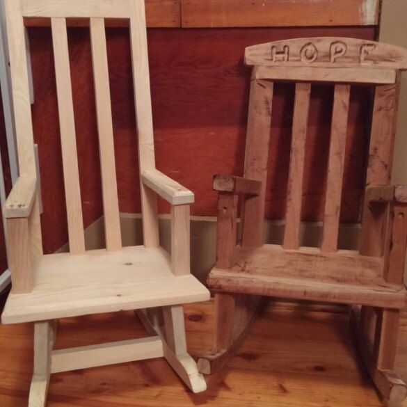 baby rocking chair baby rocker unfinished rocking chair raw wood rocker rustic rocking chair wooden rocking chair child rocking chair - Wood Rocking Chair
