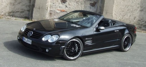 Mercedes SL55 AMG: Schwarz, breit, stark!