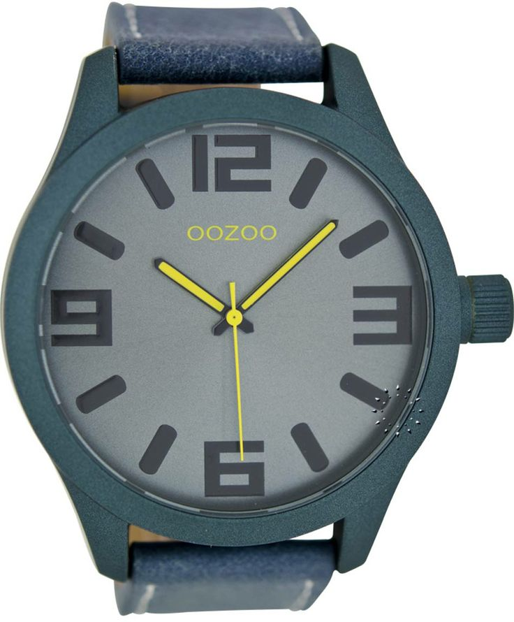 OOZOO Large Τimepieces Blue Leather Strap Μοντέλο: C6272 Η τιμή μας: 69€ http://www.oroloi.gr/product_info.php?products_id=36166