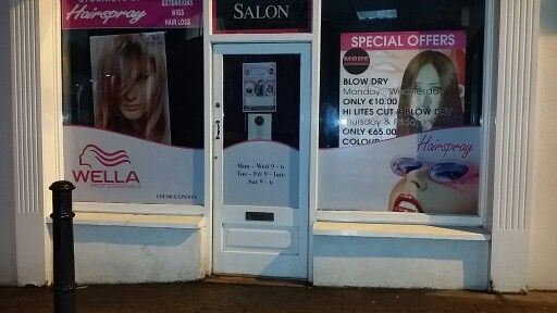 Window graphics for Mode Hairdressing done & dusted ☆
