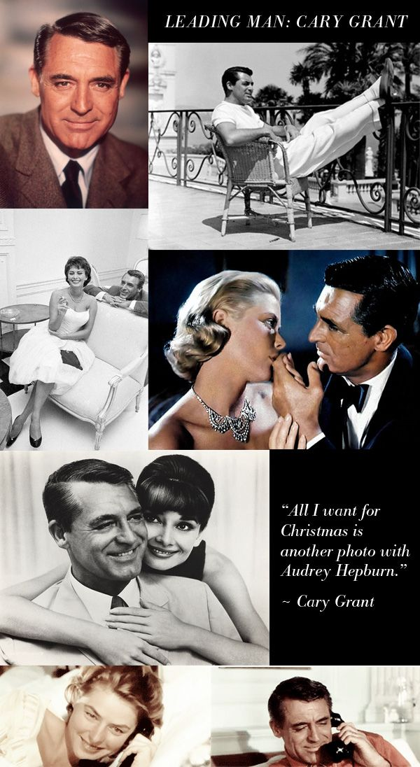 """""""Everybody wants to be Cary Grant. Even I want to be Cary Grant.""""   ~ Cary Grant, He did a funny shower scene with A Hepburn."""