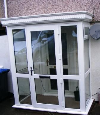 Enclosed Porch Using A GRP Roof