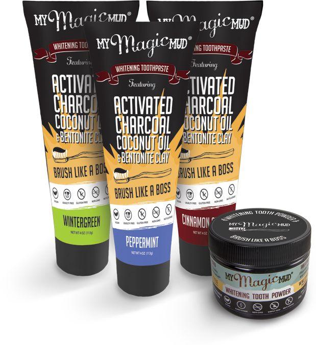 My Magic Mud® Natural Tooth Brushing Powder & Oral Care