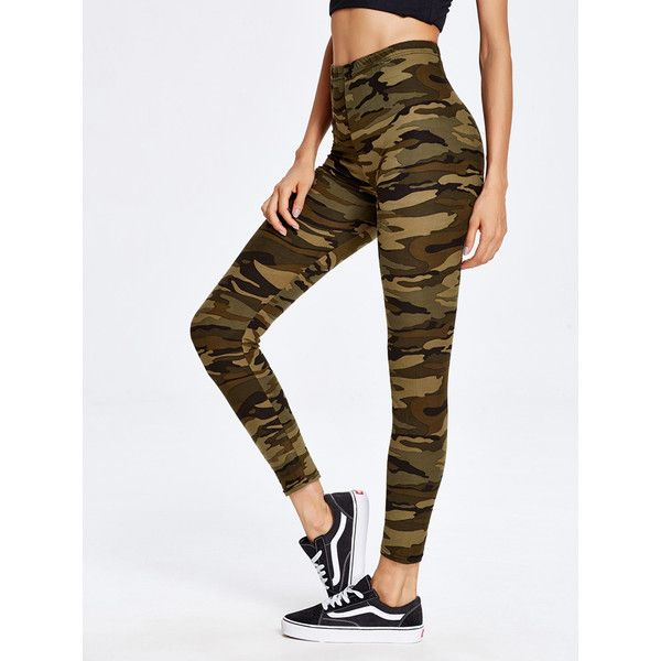 Camouflage Print Ankle Leggings 799 Liked On Polyvore Featuring Pants
