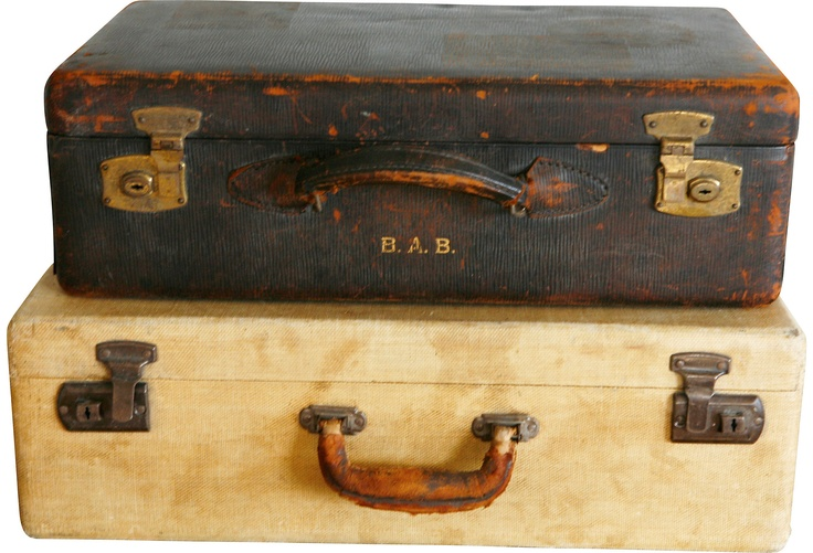 Vintage Suitcases, Set of 2 >> Love the old, worn style... where have these bags traveled to?