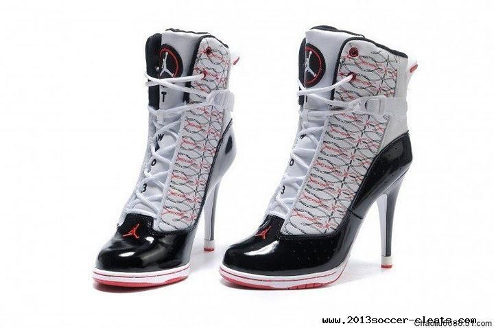 Authentic White/Black/Red Air Jordan 6 Rings High Heels Boots | Nike soccer shoes | Pinterest | High Heel Boots, Heel Boots and Air Jordans