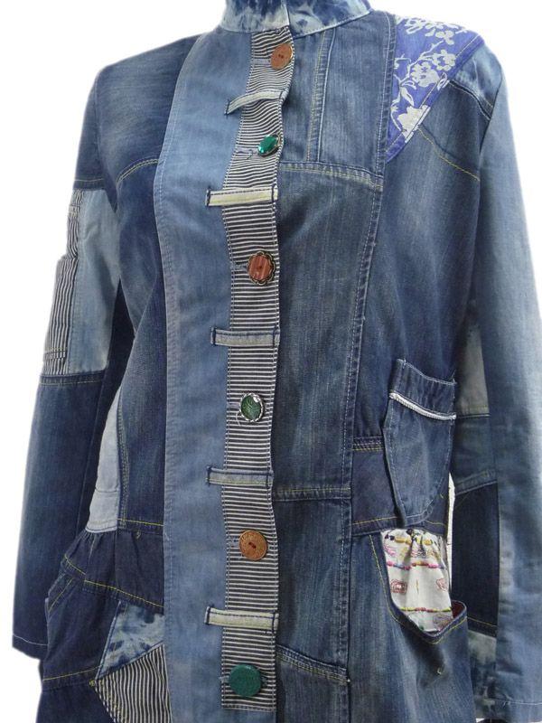 Desigual Damen Designer Jeans Mantel spanische Größe 46 DE Gr. 42/44 | eBay