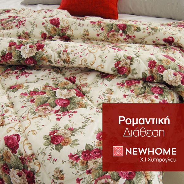 Ο Φεβρουάριος μας έβαλε σε ρομαντική διάθεση. Πάπλωμα Andrea Rosa, διαθέτει πολύ ζεστή θερμαντική ικανότητα και διατίθεται σε μονό 1,60 x 2,40 και  Υπέρδιπλο πάπλωμα 2,20 x 2,40. http://www.newhome.com.gr/gr/leyka-eidi/kouverli-paplomata/paplomata/paploma-andrea-rosa.asp #newhome #chytiroglou #paploma