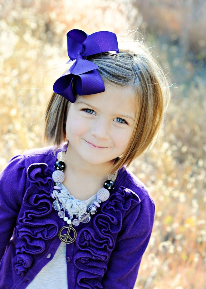Very cute little girl hair cut idea, also loving the necklace