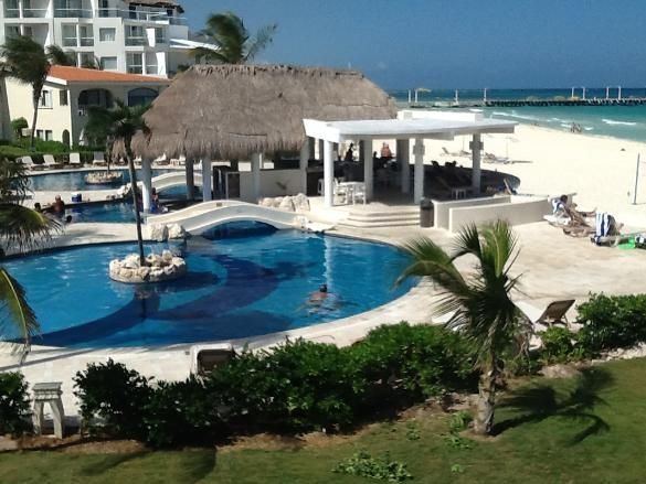 3 bed, 3 bath beachfront condo in Playa del Carmen Mx.  Just 50 feet from the beach and the pool.  Check our website for more photos and info at caribbeanbeachfrontcondo.com