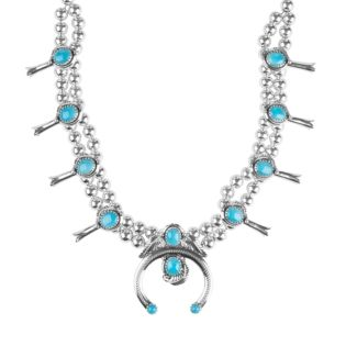 American West Sleeping Beauty Turquoise Naja Statement Necklace