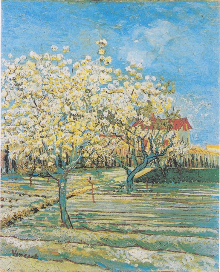 Vincent Van Gogh: Flowering orchard, April 1888. Private collection, Switzerland.