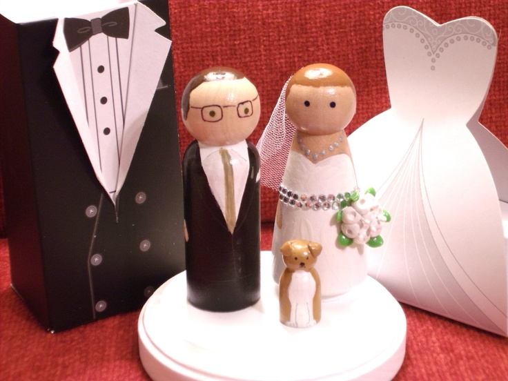 Wedding Cake Topper Glitz and Glam Makeover Plus One -   Wedding Cake Topper Fully Customizable. $68.00, via Etsy.