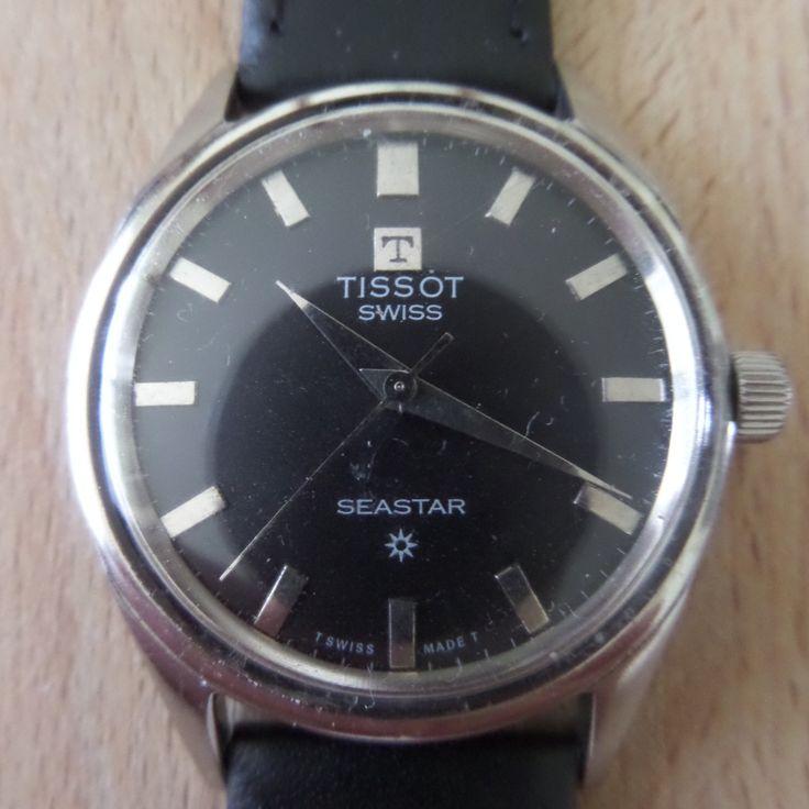 TISSOT SEASTAR - 1968 Vintage - Guaranteed Genuine, Swiss made Gents/Mens mechanical mechanism wrist watch by EWcoLondon on Etsy