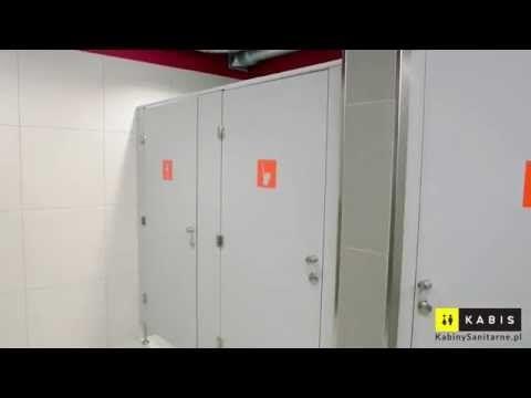 Beżowe Sanitarne Ścianki Systemowe HPL • Kabis™ - YouTube