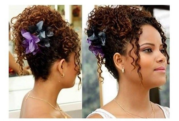 Resultado de imagen para peinados cabello rizado recogido paso a paso