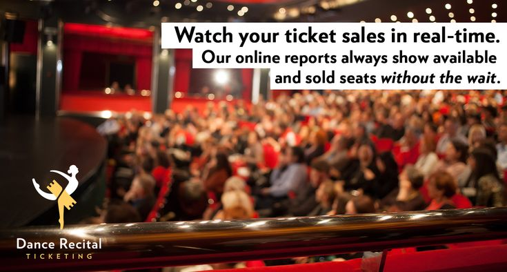 We offer real-time accounting and seat availability reports. Since our online reports are ALWAYS up to date, you can see at that exact moment which seats are available for purchase and which are taken. You never have to wait on us for that crucial information! #dance #studio #dancestudio #performingarts #musicals #theater #stage #dancestudioowner #play #ballet #hiphop #tap #jazz