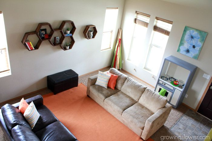 Check out my amazing $79 Budget Living Room Makeover Before and After pictures along with 4 simple steps to do your own room makeover on a budget.