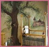 17 best images about children 39 s murals on pinterest kid for Fairy princess bedroom ideas