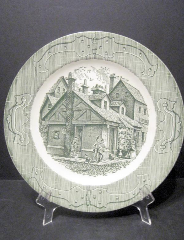 the old curiosity shop plate green underglaze royal china. Black Bedroom Furniture Sets. Home Design Ideas