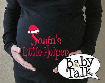 Kerst moederschap SANTA BABY shirt grote door BabytalkDesigns