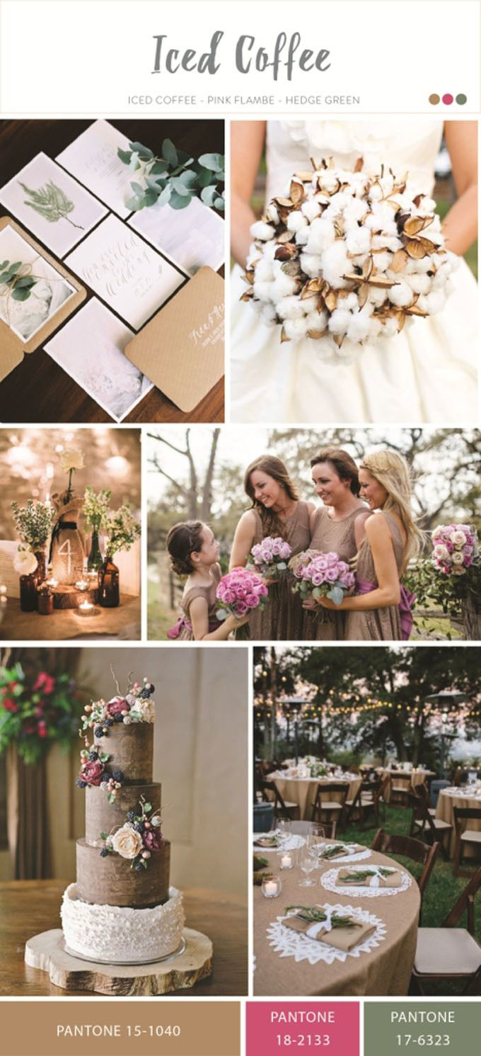 Iced coffee for wedding color inspiration | Spring 2016 Wedding Color Trend From Pantone | http://www.bridestory.com/blog/spring-2016-wedding-color-trend-from-pantone