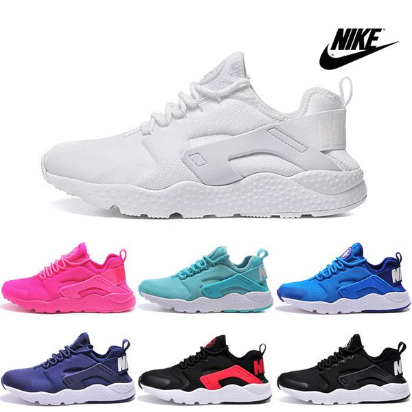 Nike Air Huarache Ultra Running Shoes. A Great casual or running shoe. Colors are white, blue, pink, orange, green, purple, black and black with red stripe. Sizes are 5 1/2, 6 1/2, 7, 8, 8 1/2, 9 1/2,