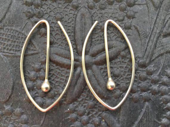 Oval Silver Hoops  Argentium Sterling Hoop Earrings  by MetalRocks