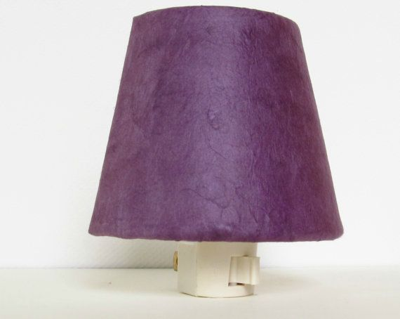 Purple Night Light Shade with Plug  by TheOrangeChairStudio, $16.00