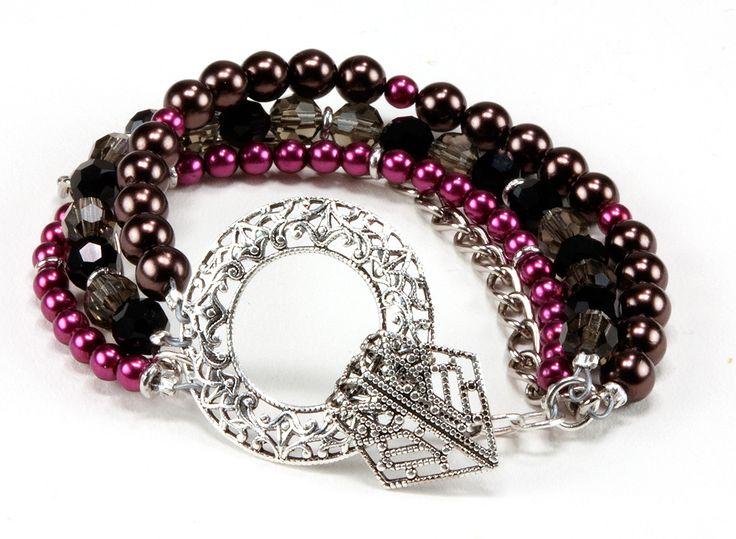 Jewelry Making Idea: Chocolate Raspberry Truffle Bracelet