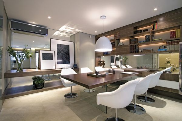 Sofisticação e contemporaneidade são os conceitos desse escritório. Foto: Revista em Casa Mais