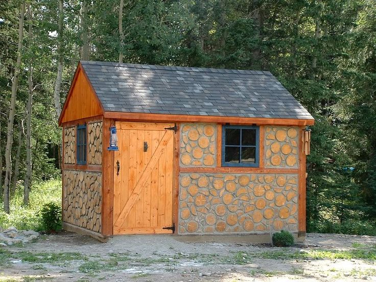 My cordwood shed.  Made out of stacked and mortared firewood.