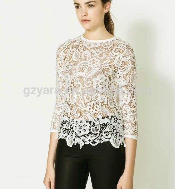 Hot Indian Sexy Photo Image Modern Lace Blouses With Transparent ...